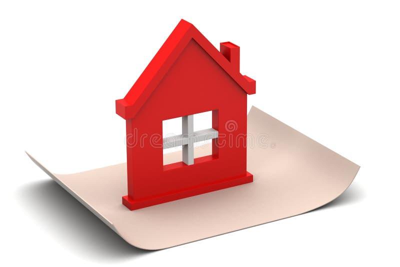 Download Stwarza Ognisko Domowe Z Dachem Ilustracji - Ilustracja złożonej z realty, mieszkaniowy: 53778963
