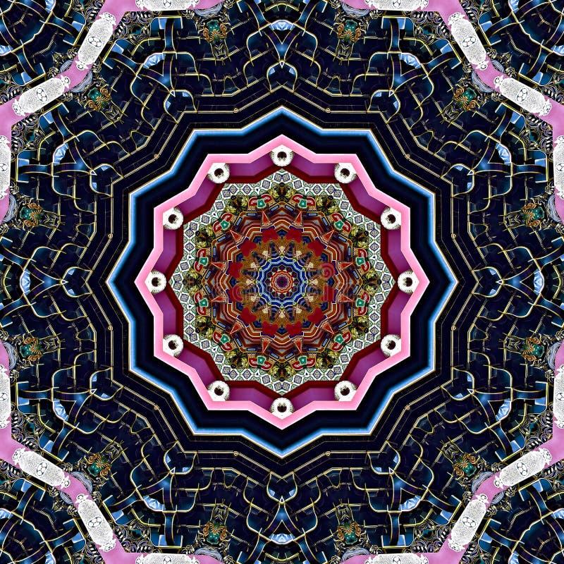 Stworzony w Japonii kolorowy wzór wygenerowany komputerowo ilustracji