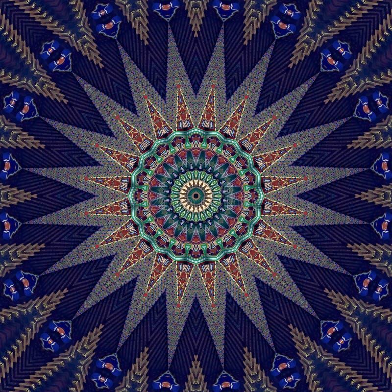 Stworzony w Japonii kolorowy wzór wygenerowany komputerowo royalty ilustracja