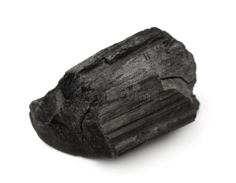 Stycke av kol royaltyfria foton