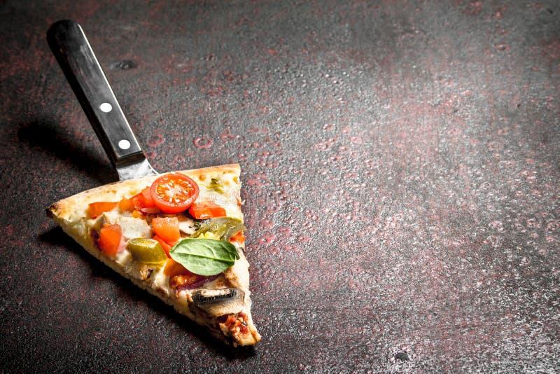 stycke av ny italiensk pizza arkivfoto