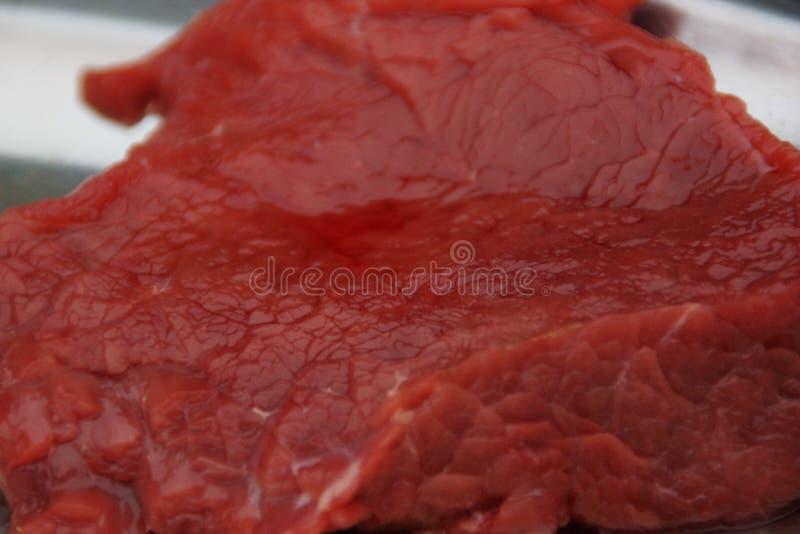 Stycke av trott kött, i stor-plan royaltyfri fotografi