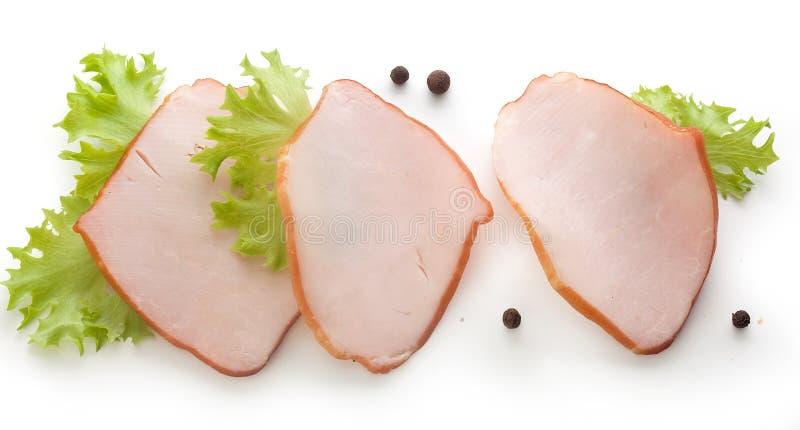 Stycken av grisköttfransyskan royaltyfri foto