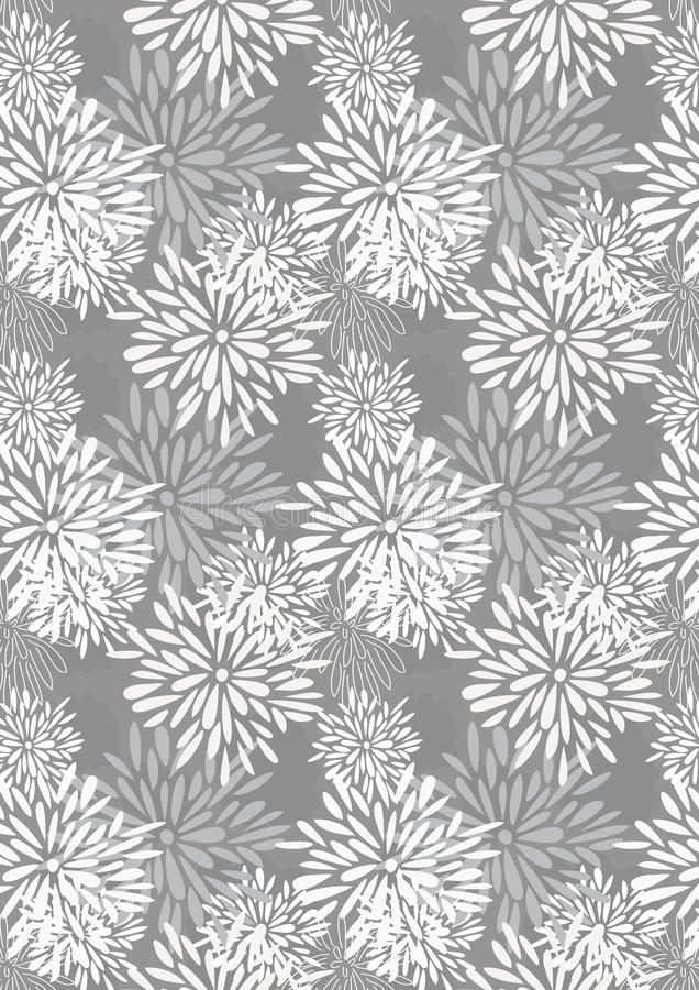 stycken för petal för modell för eps-blomma växande stock illustrationer