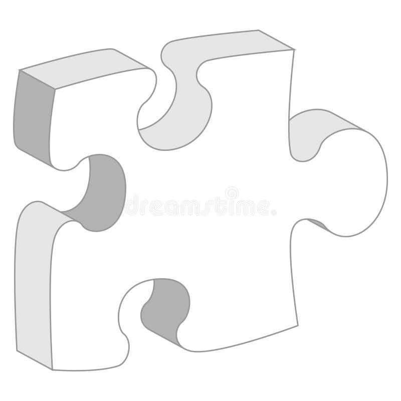 styckpussel vektor illustrationer