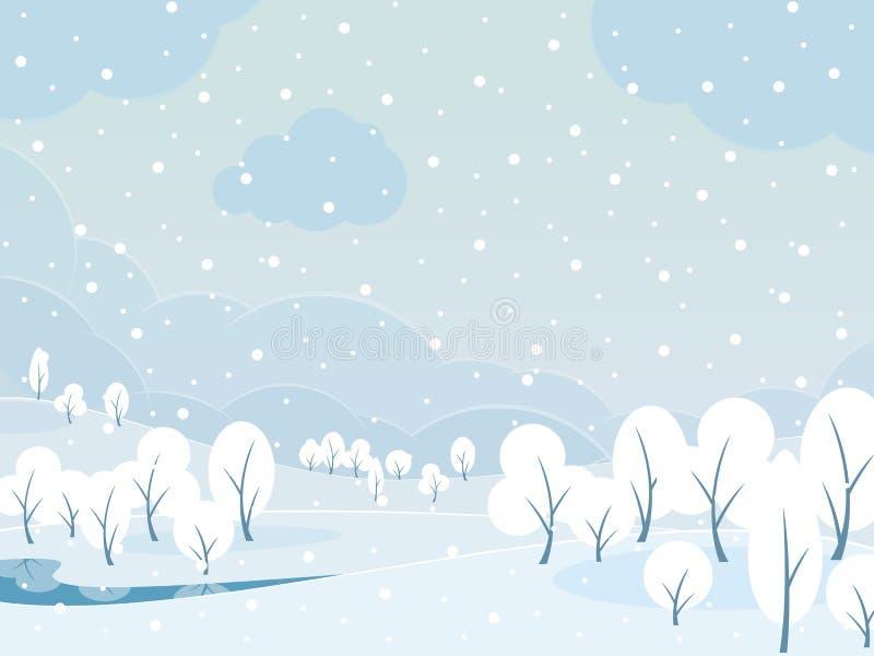 Styczeń 33c krajobrazu Rosji zima ural temperatury ilustracji