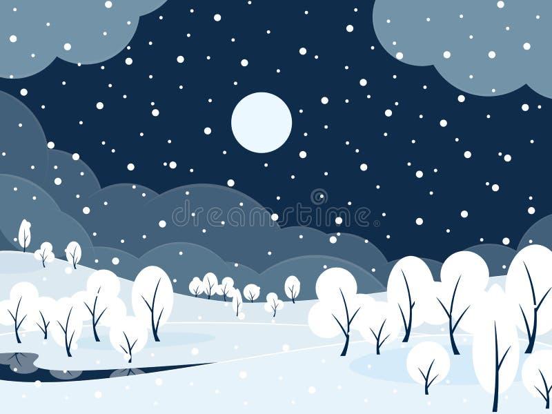 Styczeń 33c krajobrazu Rosji zima ural temperatury ilustracja wektor