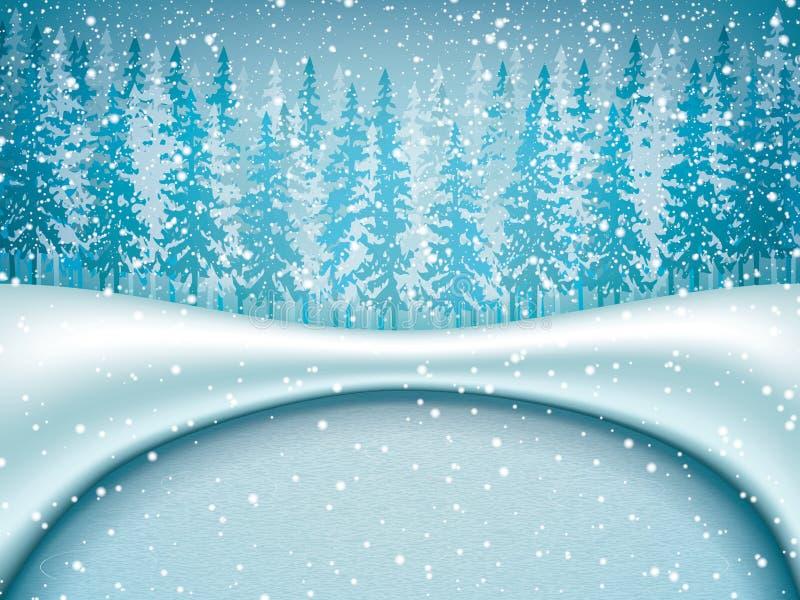 Styczeń 33c krajobrazu Rosji zima ural temperatury royalty ilustracja
