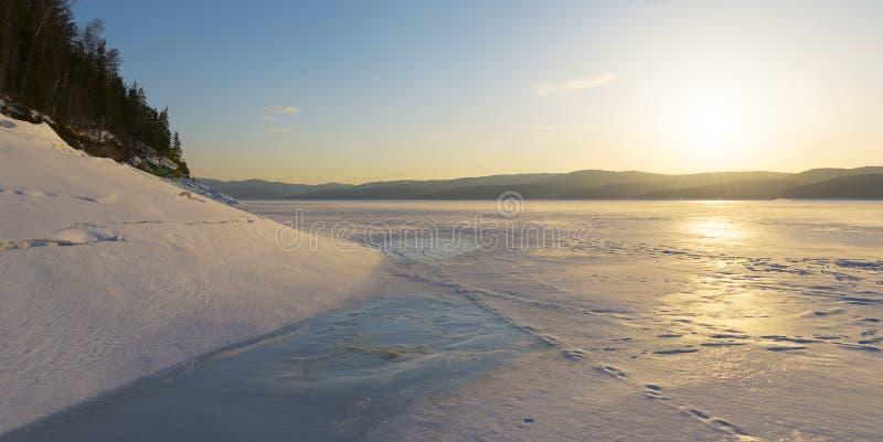 Styczeń 33c krajobrazu Rosji zima ural temperatury fotografia stock