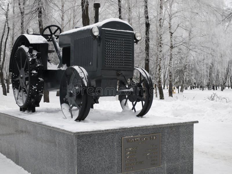 Styczeń 2017, Kharkov, Ukraina Zabytek pierwszy Radziecki ciągnik próbka w 1931 obraz stock