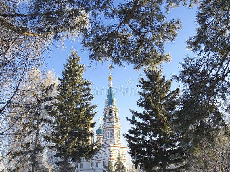 Stycze? 33c krajobrazu Rosji zima ural temperatury fotografia stock