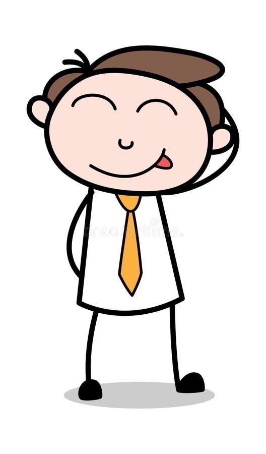 Styggt - kontorsaffärsmanEmployee Cartoon Vector illustration stock illustrationer