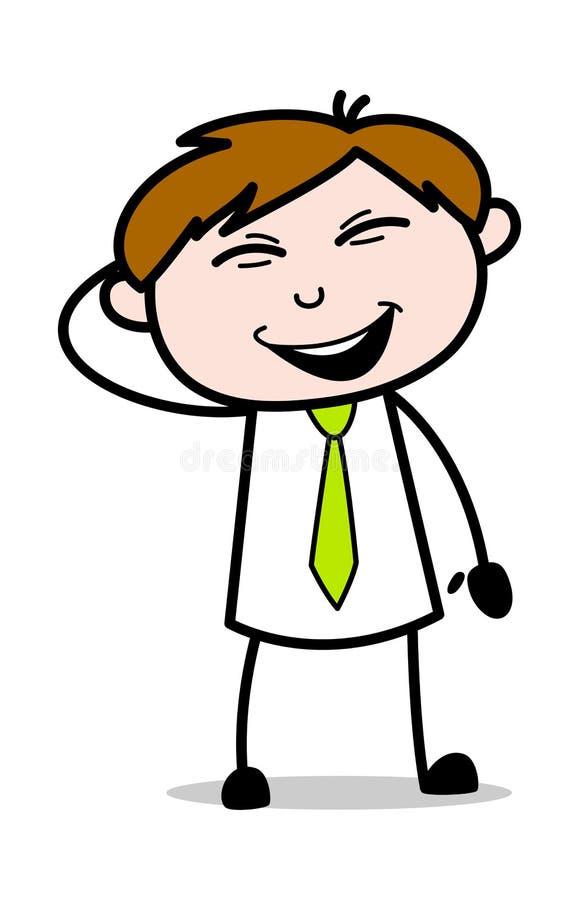 Styggt le - kontorsrepresentantEmployee Cartoon Vector illustration vektor illustrationer