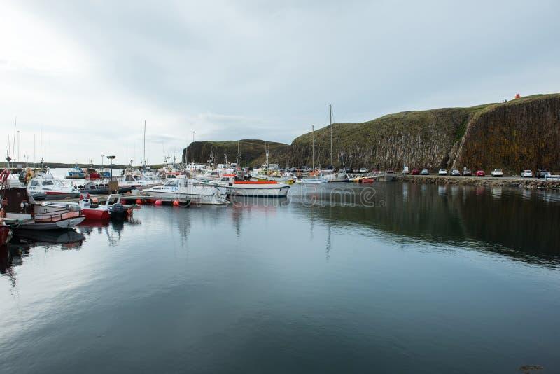 Stykkisholmur harbor, Snaefellsnes peninsula, Iceland stock image