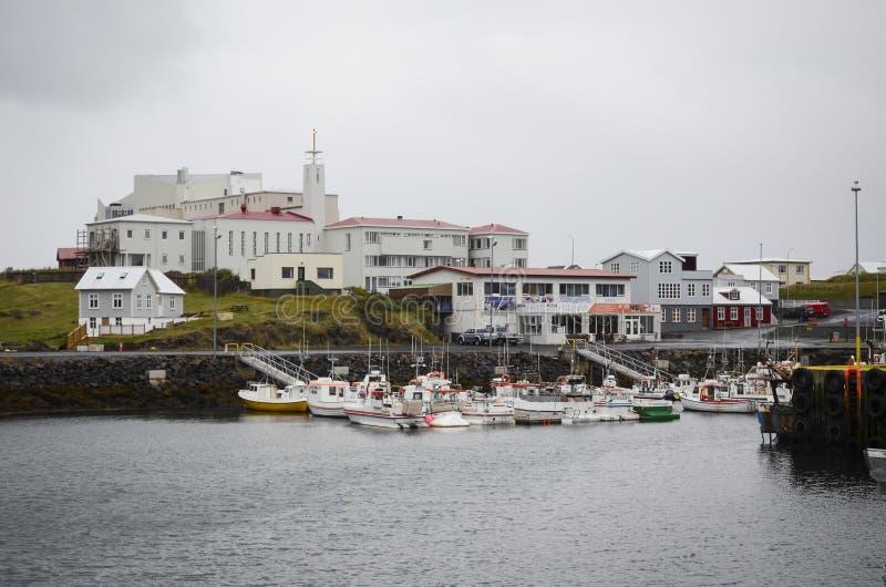 Stykkisholmur, Island stockfotos