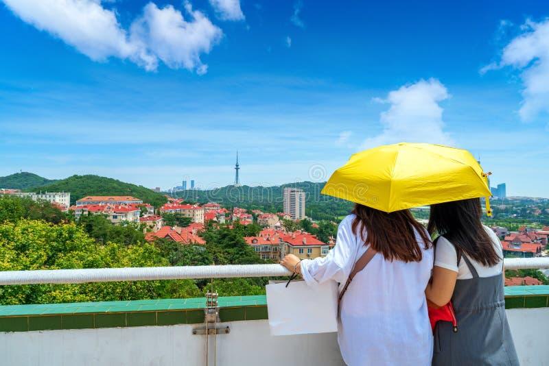 Stylów dziejowi budynki w Qingdao, Chiny zdjęcia stock