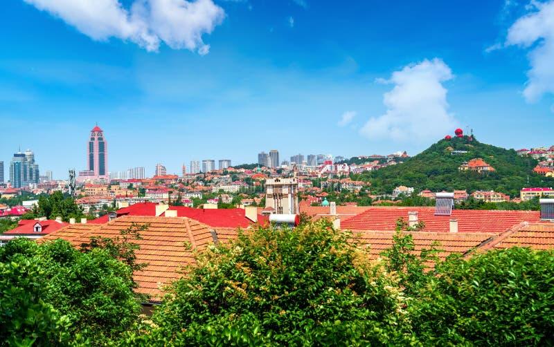 Stylów dziejowi budynki w Qingdao, Chiny obraz royalty free