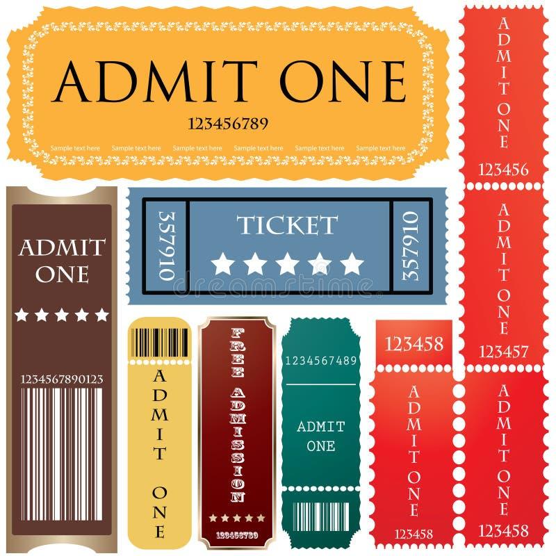 stylów różni bilety ilustracja wektor