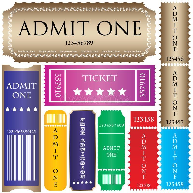 stylów różni bilety ilustracji