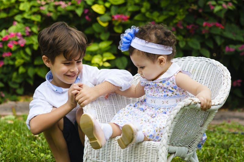 Styl życia brata i siostry fotografia royalty free