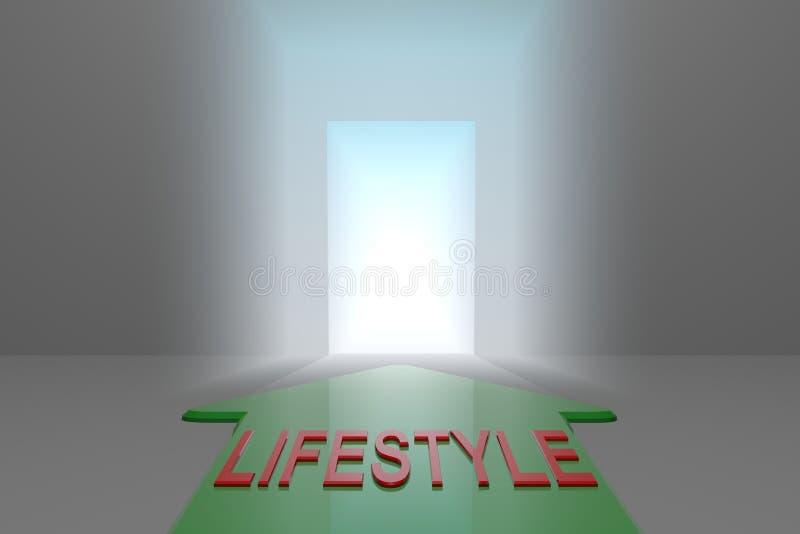 Styl życia otwarta brama ilustracja wektor