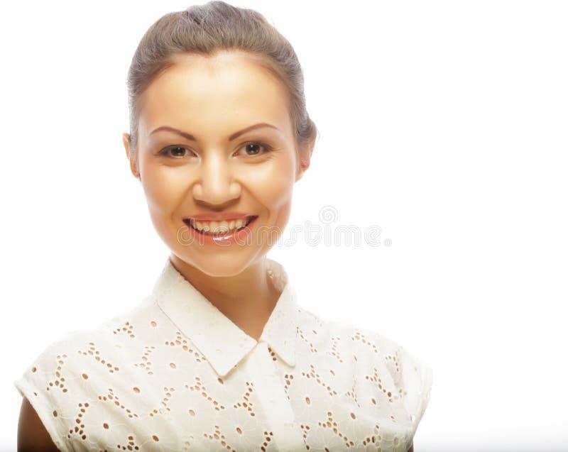 Styl życia, piękno i ludzie pojęć: młoda kobieta z czystym sk obraz stock
