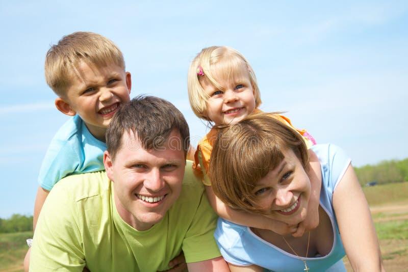 styl życia rodzinny portret obrazy stock