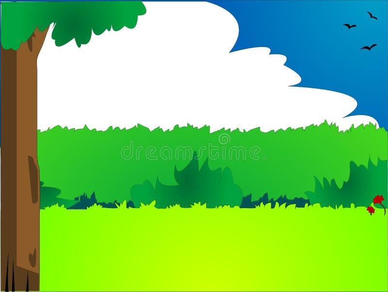 styl krajobrazu komiks. ilustracji