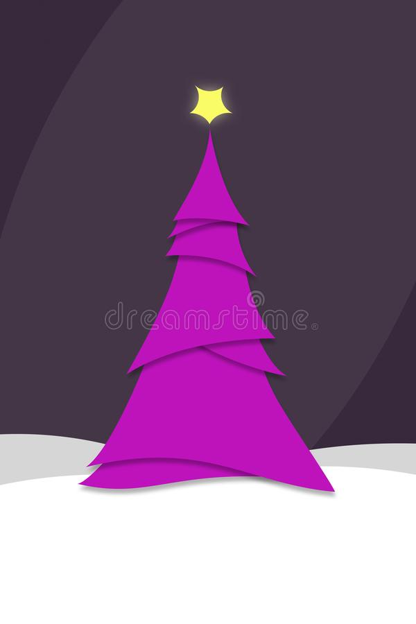 Styl ministyczny Modern Pink Choinka Ilustracja ilustracji