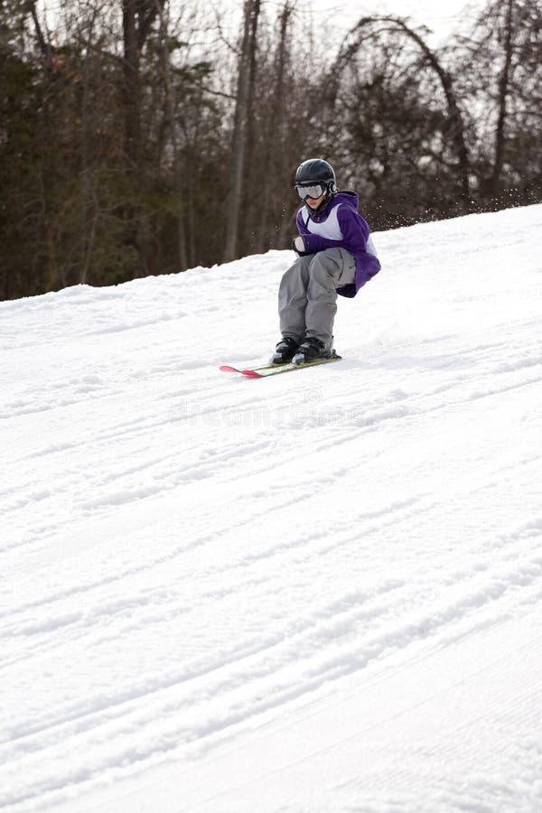 styl wolny narciarstwa młodość obraz royalty free