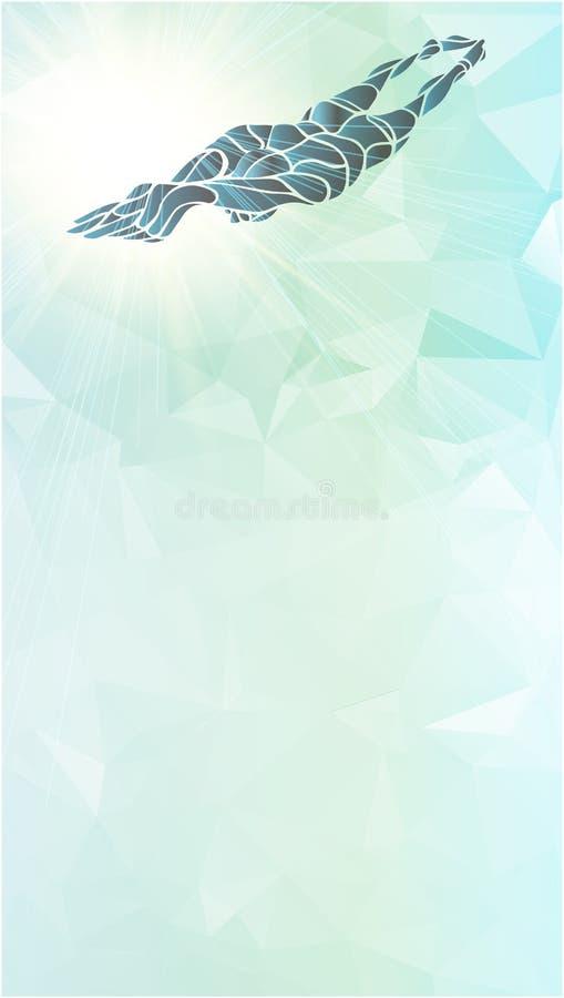 Styl wolny pływaczki sylwetka Sport pływacka atleta ilustracja wektor