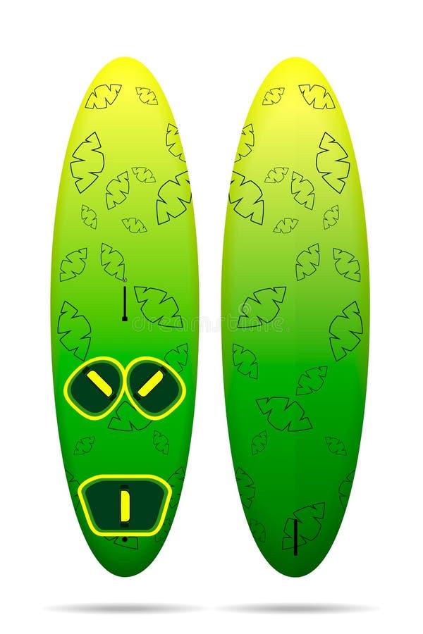 Styl wolny windsurfing deska ilustracji