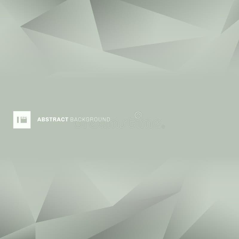 Style à la mode de bas polygone de vert de résumé avec l'espace pour le texte Fond polygonal de couleur grise géométrique illustration stock