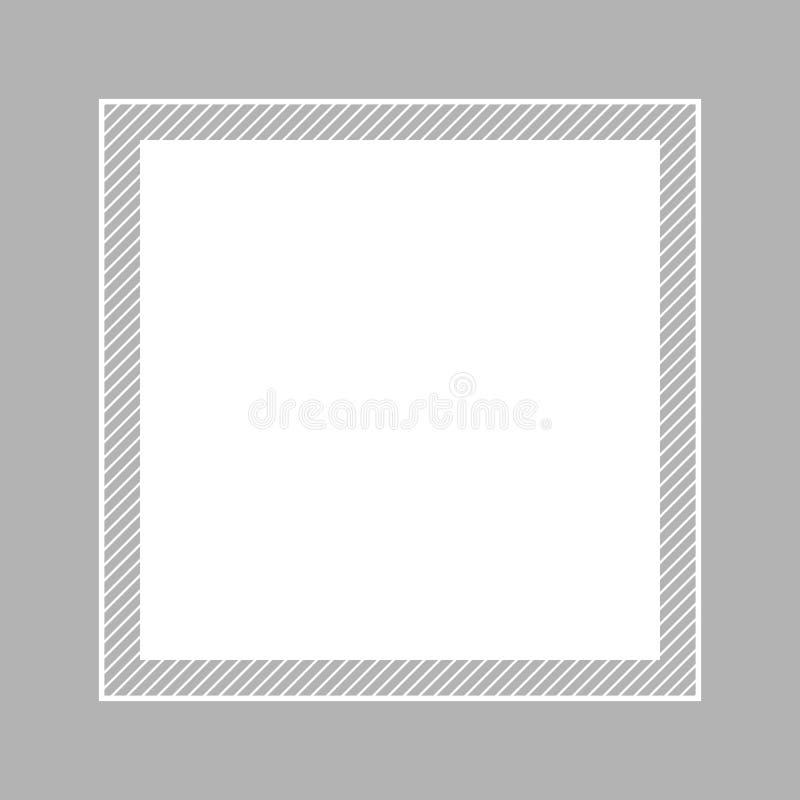 Style étendu plat gris et place de couleur en pastel de cadre à la mode pour l'espace de copie, gris vide de cadre pour la conc illustration stock