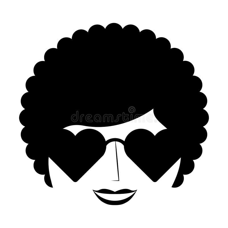 style Afro de caractère de femme illustration stock
