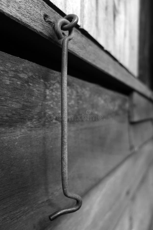 Style ancien en bois de crochet de fenêtre image libre de droits
