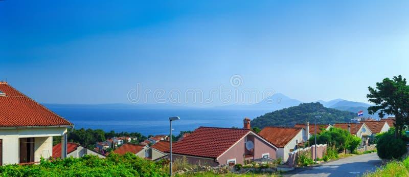 Style architectural méditerranéen européen traditionnel, rues photos stock
