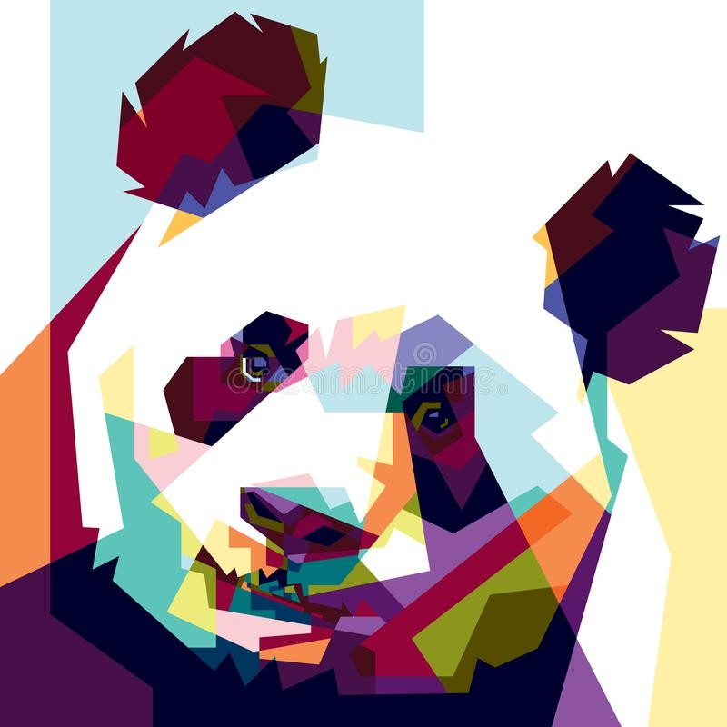 Colorfully panda stock images