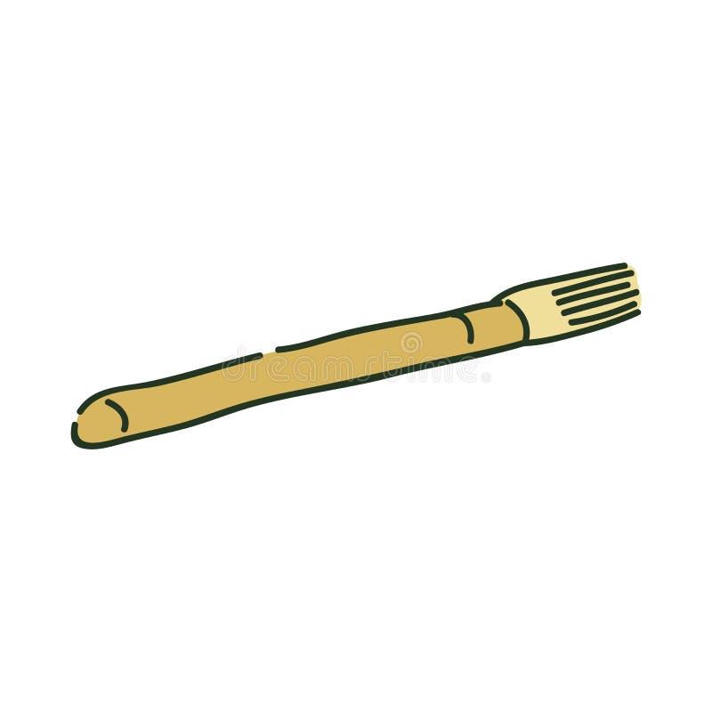 Style artistique de croquis de pinceau ou de brosse d'archéologie illustration stock