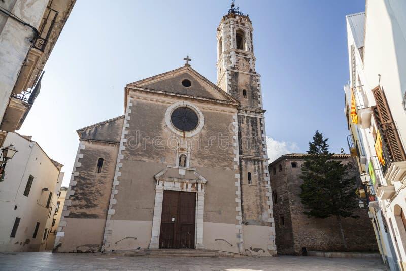 Style baroque d'église de Santa Maria de la Geltru, La de Vilanova i photographie stock libre de droits