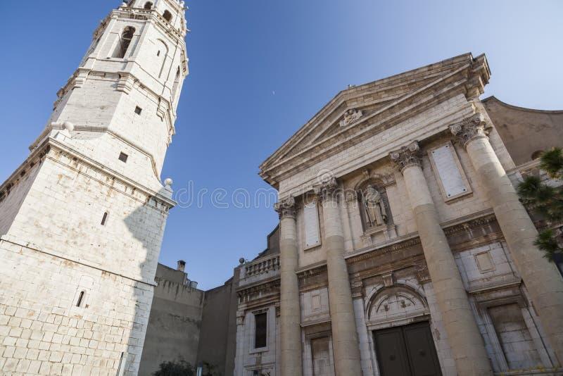Style baroque et néoclassique d'église de la cloche t de Sant Antoni Abad image libre de droits