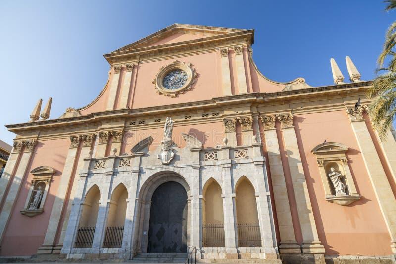 Style baroque et néoclassique d'église de Sant Antoni Abad dans Vil image stock