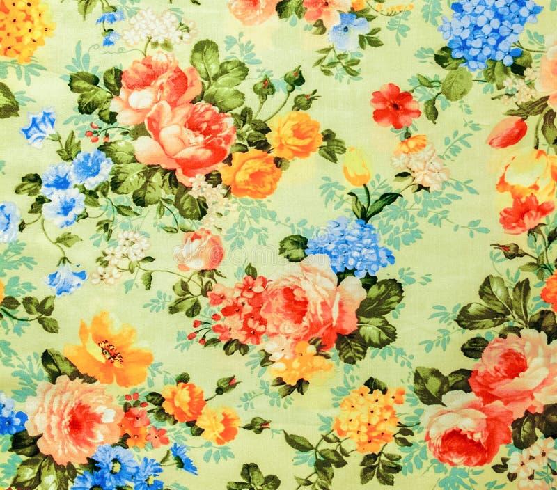 Style beige de vintage de fond de tissu de rétro modèle sans couture floral de dentelle image libre de droits