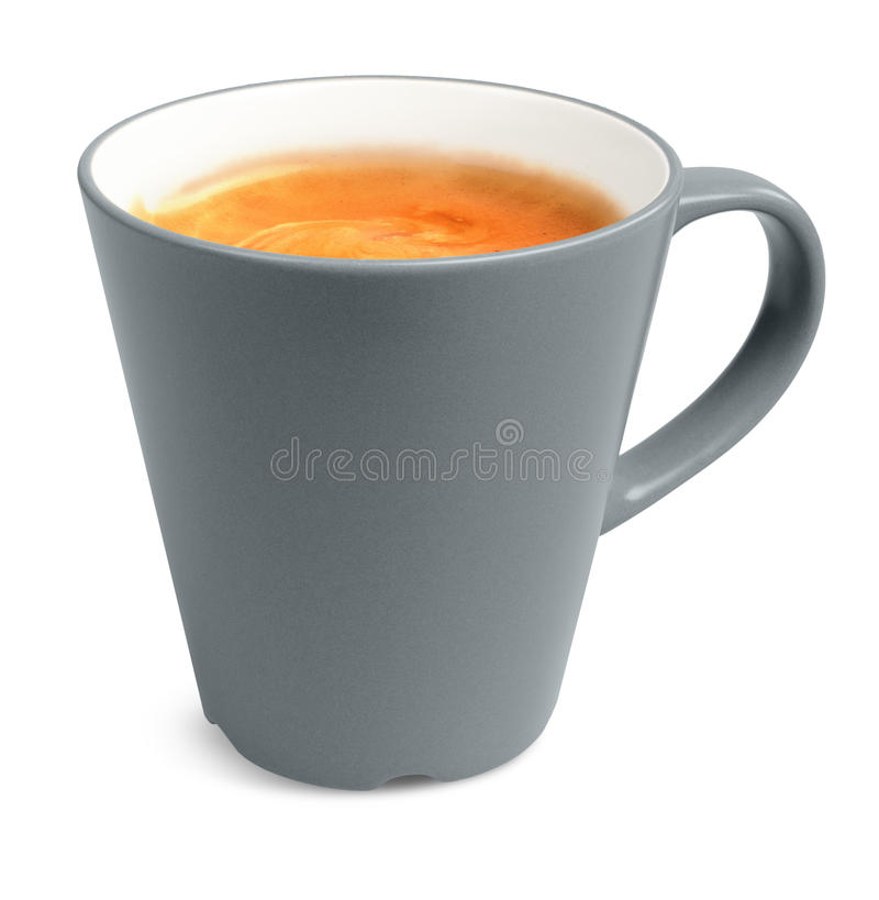 Style big cup of real espresso coffee isolated royalty free stock photo