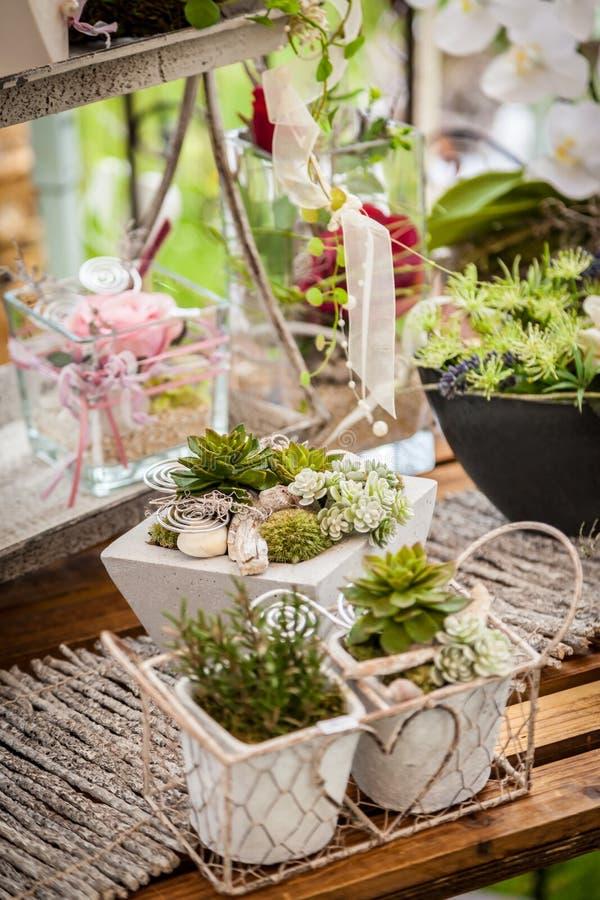 Style chic minable de décoration de jardin photos stock