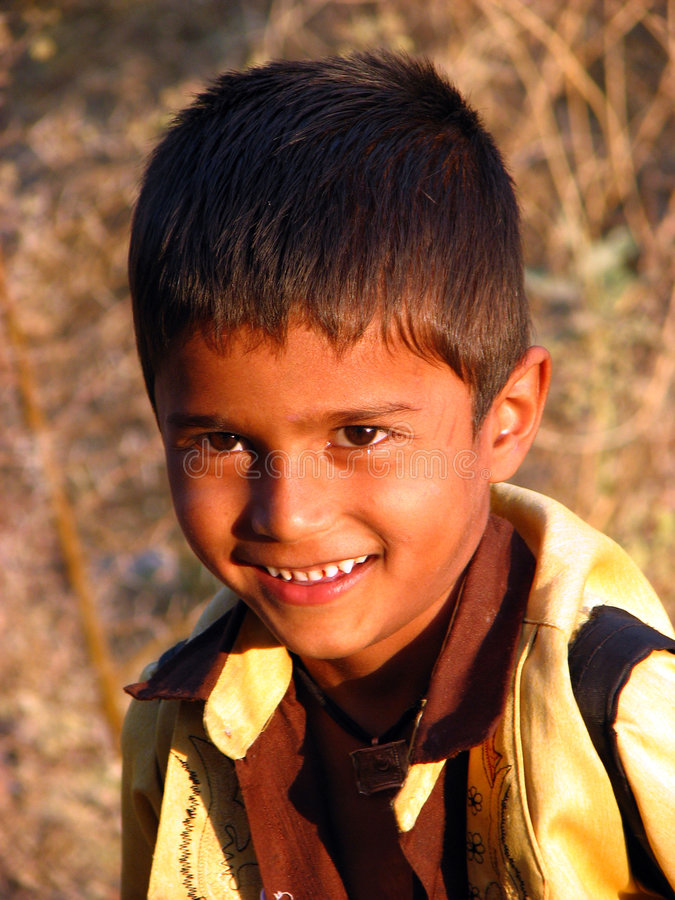 Style Child. A smart looking poor Indian boy royalty free stock photo