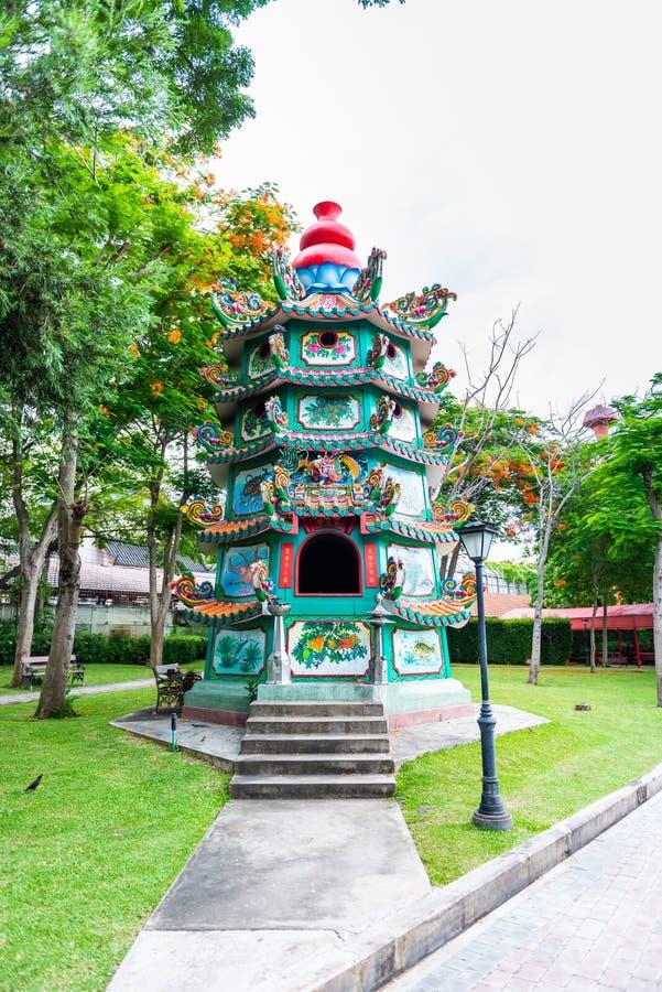 Style chinois antique de bâtiment chez Dragon Descendants Meseum photographie stock