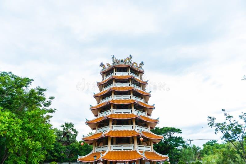 Style chinois antique de bâtiment chez Dragon Descendants Meseum photo stock