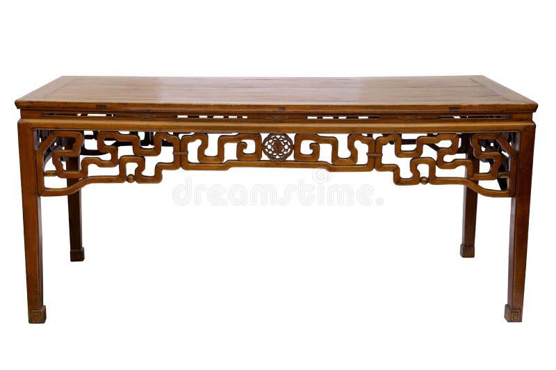 Style chinois en bois de table photos libres de droits