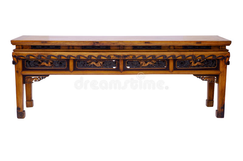 Style chinois en bois de table images libres de droits